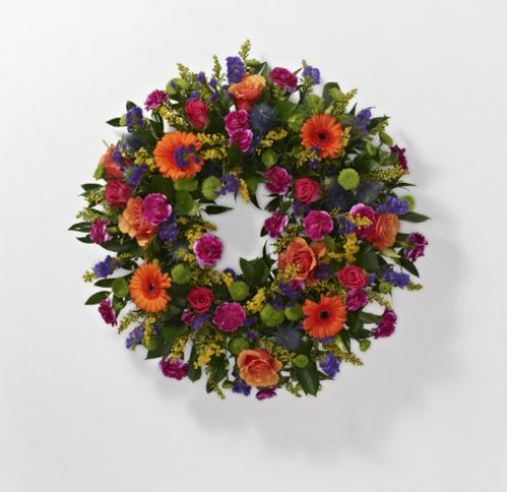Vibrant loose wreath